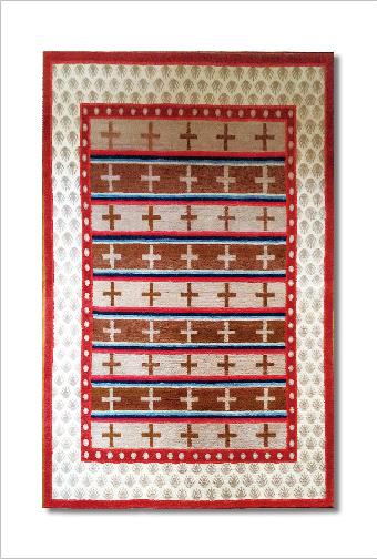 チベットの絨毯で冬暖かく。